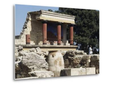 Reconstructed Palace of King Minos, Knossos, Crete, Greece-Michael Short-Metal Print