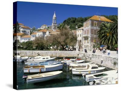 The Tiny Inner Harbour, Hvar Town, Croatia-Michael Short-Stretched Canvas Print