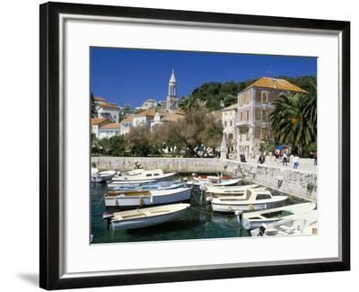 The Tiny Inner Harbour, Hvar Town, Croatia-Michael Short-Framed Photographic Print