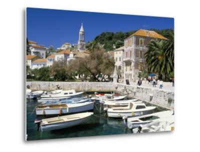 The Tiny Inner Harbour, Hvar Town, Croatia-Michael Short-Metal Print