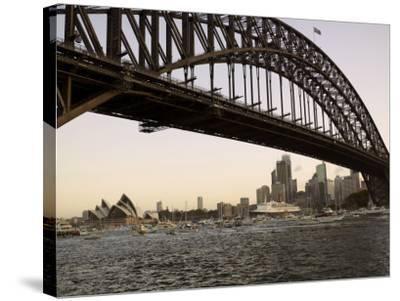Qe2 Arriving in Sydney Harbour, New South Wales, Australia-Mark Mawson-Stretched Canvas Print