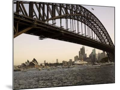 Qe2 Arriving in Sydney Harbour, New South Wales, Australia-Mark Mawson-Mounted Photographic Print