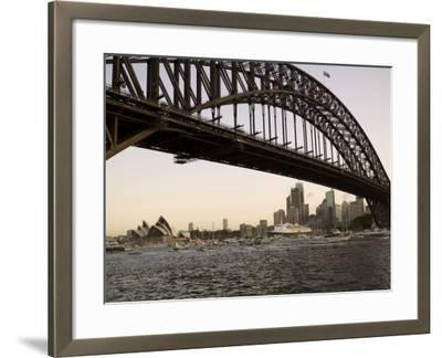 Qe2 Arriving in Sydney Harbour, New South Wales, Australia-Mark Mawson-Framed Photographic Print
