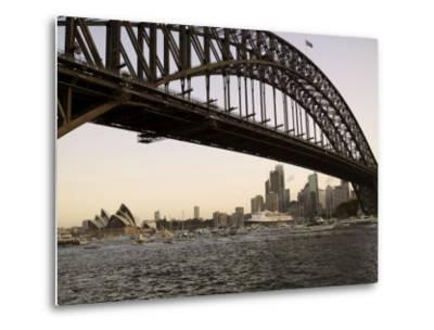 Qe2 Arriving in Sydney Harbour, New South Wales, Australia-Mark Mawson-Metal Print