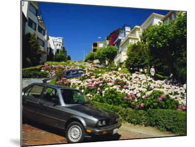 Lombard Street the Crookedest Street in the World, San Franscisco, Califonia, USA-Fraser Hall-Mounted Photographic Print