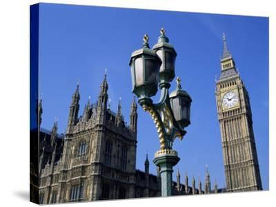 Big Ben and the Houses of Parliament, Unesco World Heritage Site, Westminster, London, England-Fraser Hall-Stretched Canvas Print