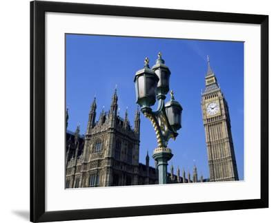 Big Ben and the Houses of Parliament, Unesco World Heritage Site, Westminster, London, England-Fraser Hall-Framed Photographic Print