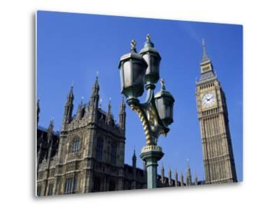 Big Ben and the Houses of Parliament, Unesco World Heritage Site, Westminster, London, England-Fraser Hall-Metal Print