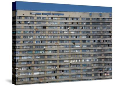 War Damaged Apartment Block, Sarajevo, Bosnia, Bosnia-Herzegovina-Graham Lawrence-Stretched Canvas Print