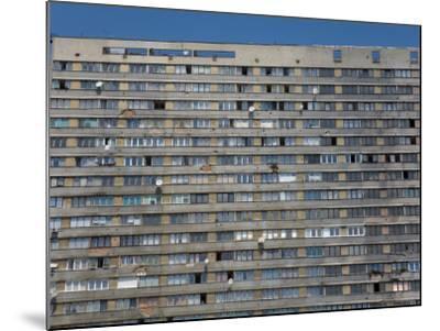 War Damaged Apartment Block, Sarajevo, Bosnia, Bosnia-Herzegovina-Graham Lawrence-Mounted Photographic Print