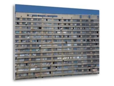 War Damaged Apartment Block, Sarajevo, Bosnia, Bosnia-Herzegovina-Graham Lawrence-Metal Print