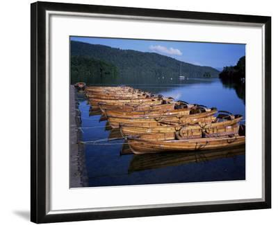 Rowing Boats on Lake, Bowness-On-Windermere, Lake District, Cumbria, England, United Kingdom-David Hunter-Framed Photographic Print