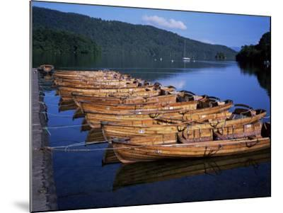 Rowing Boats on Lake, Bowness-On-Windermere, Lake District, Cumbria, England, United Kingdom-David Hunter-Mounted Photographic Print