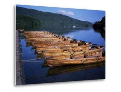 Rowing Boats on Lake, Bowness-On-Windermere, Lake District, Cumbria, England, United Kingdom-David Hunter-Metal Print