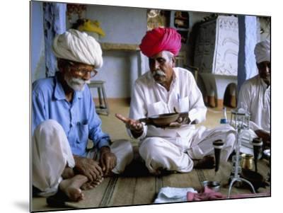 Opium Ceremony, Village Near Jodhpur, Rajasthan State, India-Bruno Morandi-Mounted Photographic Print
