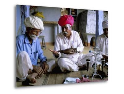 Opium Ceremony, Village Near Jodhpur, Rajasthan State, India-Bruno Morandi-Metal Print