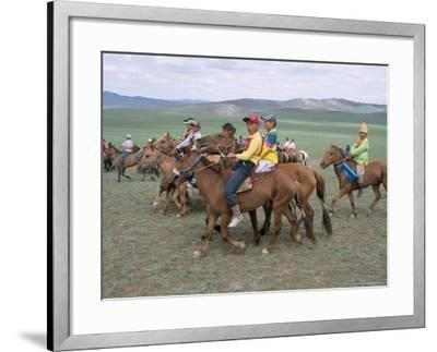 Naadam Festival, Orkhon Valley, Ovorkhangai, Mongolia, Central Asia-Bruno Morandi-Framed Photographic Print