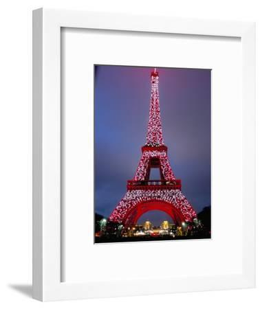Eiffel Tower Decorated for Chinese New Year, Paris, France-Bruno Morandi-Framed Photographic Print