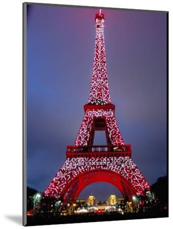 Eiffel Tower Decorated for Chinese New Year, Paris, France-Bruno Morandi-Mounted Photographic Print