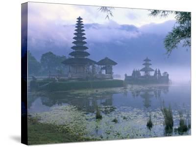 Pura Ulun Temple, Danu Bratan, Island of Bali, Indonesia, Southeast Asia-Bruno Morandi-Stretched Canvas Print