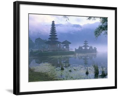Pura Ulun Temple, Danu Bratan, Island of Bali, Indonesia, Southeast Asia-Bruno Morandi-Framed Photographic Print