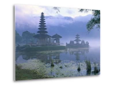 Pura Ulun Temple, Danu Bratan, Island of Bali, Indonesia, Southeast Asia-Bruno Morandi-Metal Print