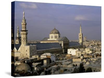 City Skyline Including Omayyad Mosque and Souk, Unesco World Heritage Site, Damascus, Syria-Bruno Morandi-Stretched Canvas Print