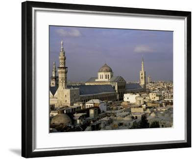 City Skyline Including Omayyad Mosque and Souk, Unesco World Heritage Site, Damascus, Syria-Bruno Morandi-Framed Photographic Print