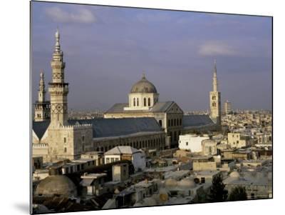 City Skyline Including Omayyad Mosque and Souk, Unesco World Heritage Site, Damascus, Syria-Bruno Morandi-Mounted Photographic Print