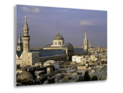 City Skyline Including Omayyad Mosque and Souk, Unesco World Heritage Site, Damascus, Syria-Bruno Morandi-Metal Print