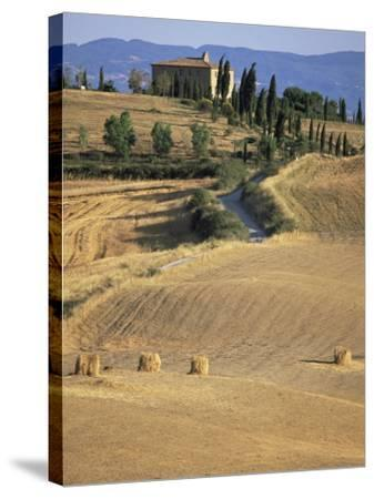 Rolling Landscape in Siena Province, Tuscany, Italy-Bruno Morandi-Stretched Canvas Print