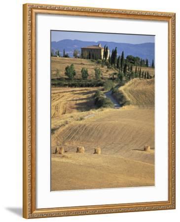 Rolling Landscape in Siena Province, Tuscany, Italy-Bruno Morandi-Framed Photographic Print