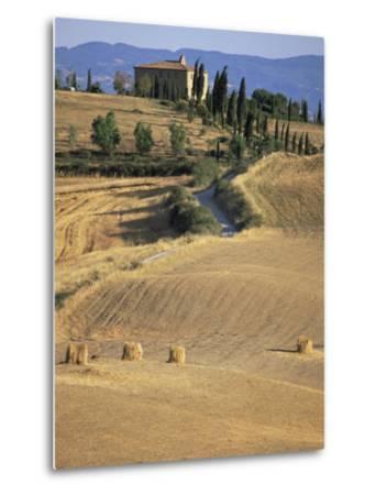 Rolling Landscape in Siena Province, Tuscany, Italy-Bruno Morandi-Metal Print