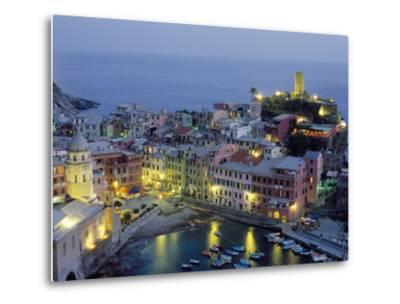 Village of Vernazza in the Evening, Cinque Terre, Unesco World Heritage Site, Liguria, Italy-Bruno Morandi-Metal Print