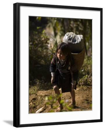Cat Cat Village Hiking Trail, Sapa, Northern Vietnam, Southeast Asia-Christian Kober-Framed Photographic Print