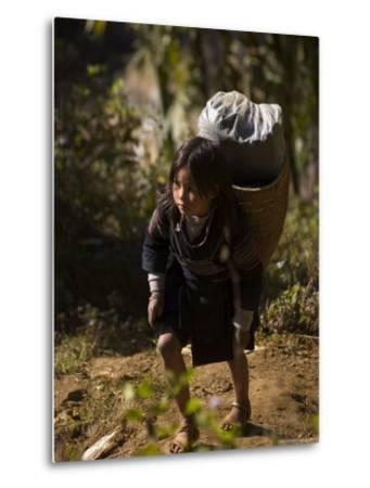 Cat Cat Village Hiking Trail, Sapa, Northern Vietnam, Southeast Asia-Christian Kober-Metal Print