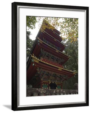 Pagoda at Toshogu Shrine, Nikko, Tochigi Prefecture, Japan-Christian Kober-Framed Photographic Print