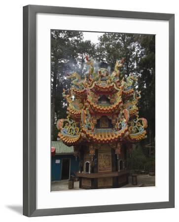 Temple in Cedar Forest, Alishan National Forest Recreation Area, Chiayi County, Taiwan-Christian Kober-Framed Photographic Print