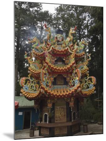 Temple in Cedar Forest, Alishan National Forest Recreation Area, Chiayi County, Taiwan-Christian Kober-Mounted Photographic Print