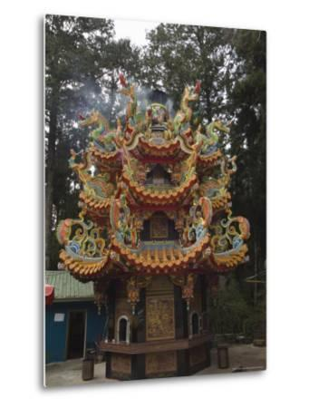 Temple in Cedar Forest, Alishan National Forest Recreation Area, Chiayi County, Taiwan-Christian Kober-Metal Print