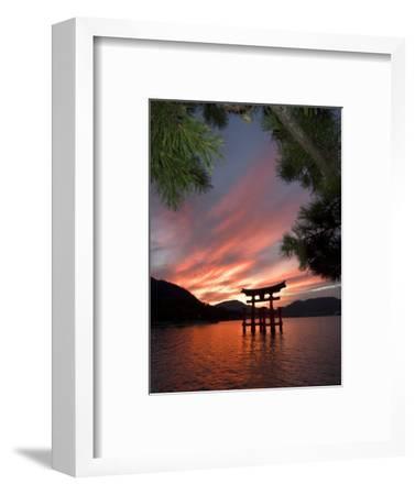 Torii Shrine Gate in the Sea, Miyajima Island, Honshu, Japan-Christian Kober-Framed Photographic Print