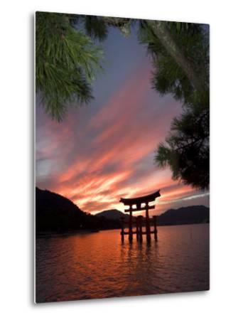 Torii Shrine Gate in the Sea, Miyajima Island, Honshu, Japan-Christian Kober-Metal Print