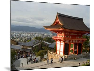 Kiyomizu Dera Temple, Unesco World Heritage Site, Kyoto City, Honshu, Japan-Christian Kober-Mounted Photographic Print