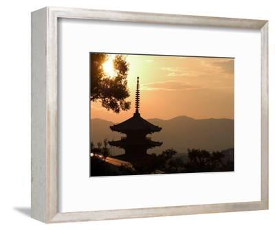 Sunset, Yasaka No to Pagoda, Kyoto City, Honshu, Japan-Christian Kober-Framed Photographic Print