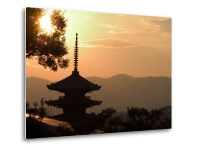 Sunset, Yasaka No to Pagoda, Kyoto City, Honshu, Japan-Christian Kober-Metal Print
