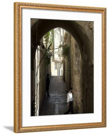 Jewish Man in Traditional Clothes, Old Walled City, Jerusalem, Israel, Middle East-Christian Kober-Framed Photographic Print