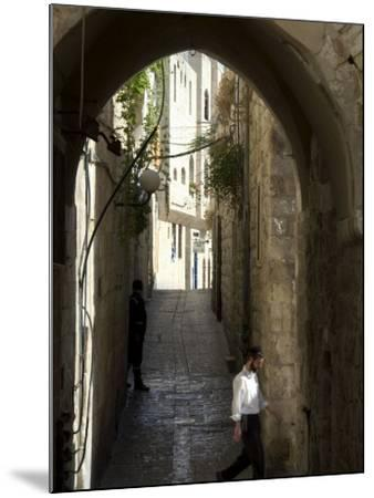 Jewish Man in Traditional Clothes, Old Walled City, Jerusalem, Israel, Middle East-Christian Kober-Mounted Photographic Print