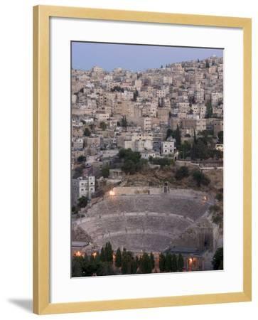 Roman Theatre in the Evening, Amman, Jordan, Middle East-Christian Kober-Framed Photographic Print