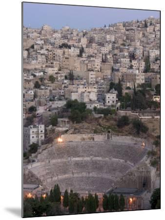 Roman Theatre in the Evening, Amman, Jordan, Middle East-Christian Kober-Mounted Photographic Print