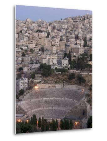 Roman Theatre in the Evening, Amman, Jordan, Middle East-Christian Kober-Metal Print